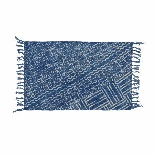 Printed Pattern Blue Rug