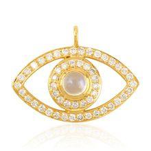 Diamond Evil Eye Design Charm Jewelry