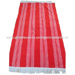 100% Cotton Striped Yarn Dyed Velour Beach Towels