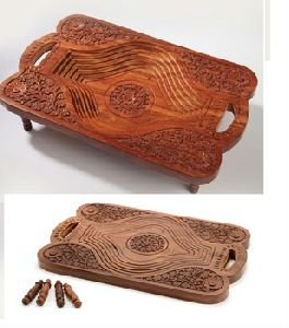Carved Wooden Folding Fruit Trays