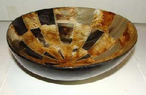 Antique Polished Horn Bowl