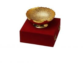 Brass Silver And Gold Plated Bowl