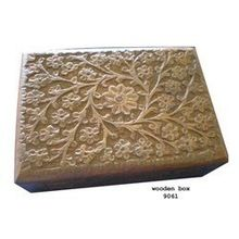 Natural Hand Carved Antique Wooden Box