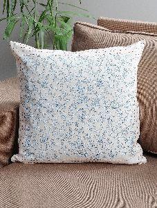 Kantha Cushion Cover Hand Block Printed Cotton