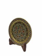 Marble Designer Plate Gold Work - Indian Handicrafts