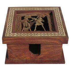 Sheesham Wood Slip Box With Dogra Painting