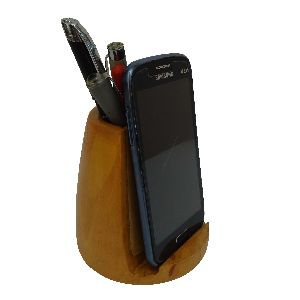 Wooden Pen Holder Cum Mobile Holder