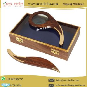 Magnifying Glass And Letter Opener With Box