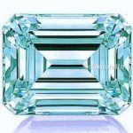 Greenish Blue 2.00 Ct 8.00 Mm Loose Moissanite Emerald Brilliant Cut Gem Edh