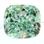 Rare Green 1.00 Ct To 3.00 Ct Loose Moissanite Cushion Cut For Rings Nr
