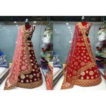 Designer Bridal Wear Velvet Lehenga