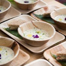Biodegradable Wood Dinnerware Areca Leaf Plates