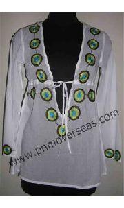 Beach Cotton Tunic White Kaftan