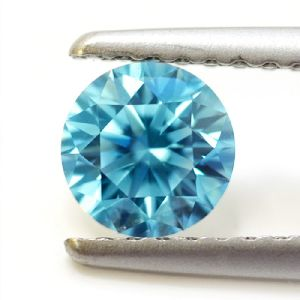 Nice 1.38 Ct 7.55 Mm Vvs1 Intense Blue Round Excellent Cut Loose Moissnaite
