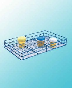 Wire Sample Container Rack, Epoxy Coated Steel