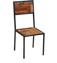 INDUSTRIAL CHAIR WITH RECYCLE WOOD