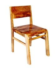 SOLID WOOD DINING CHAIR NATURAL FINISHED