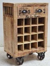 Wood Wine Storage Cabinet Cart
