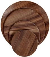 Wood Finish Dinner Plate
