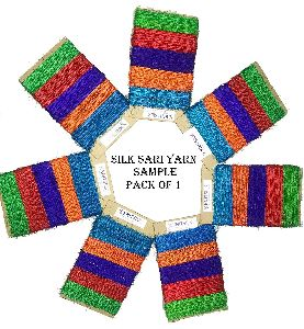 Knitsilk 10 Yards Premium Recycled Sari Silk Yarn - 5 Colors Sample Card