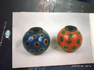 Horn And Bone Round Vase