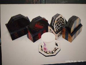 Horn And Bone Tea Coasters