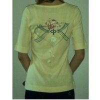 Ladies Buttercup Yellow Cotton T-Shirts