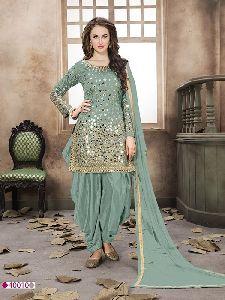 Aanaya Twisha Silk Fabric Embroidery Salwar Suits Dress Material