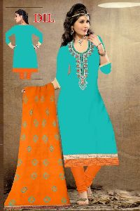 Dil Srusti Embroidered Art Silk Salwar Suit