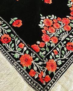 Embroidery Velvet Shawl