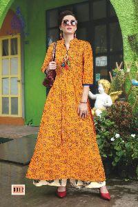 Fashion Galleria Rayon Fabric Print Work Kurti