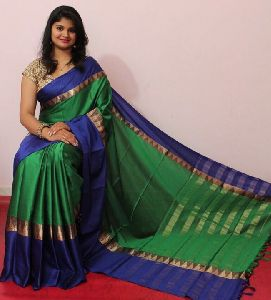 Ora Silk Banarasi Fabric Lace Border Work Saree