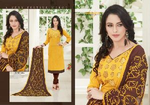 Paru Vo 1 Embroidered Slub Cotton Salwar Kameez