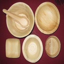 Plastic Bowl Like Palm Leaf 18 Cm Deep Round Bowl