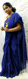 Designer Handloom Pure Zari Khadi Saree Uses Ethnic Designs And Vivid Colours