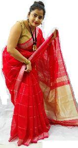 Handloom Cotton Silk Zari Pallu Saree
