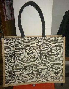 JUTE ZEBRA PRINTED BAG FOR LADIES
