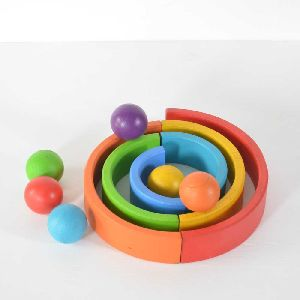 Rainbow Color Wooden Balls
