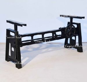 Industrial Crank Mechanism Dinning Table Base