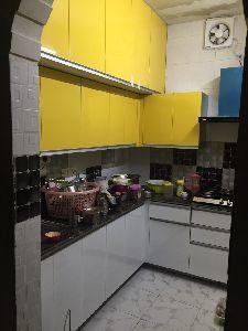 Acrylic Shutter Modular Kitchen
