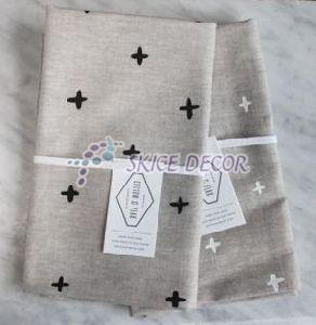 Printed Linen Tablecloth