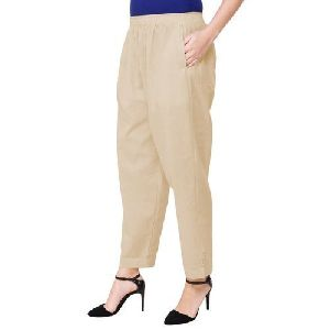 Ladies Plain Cotton Pant