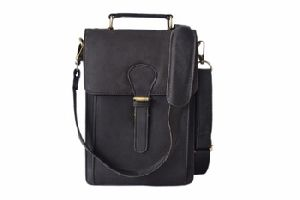 Leather Messenger Bag School Office Bag