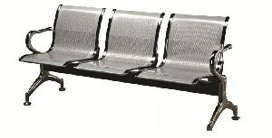 Stainless Steel Three Seater Chair