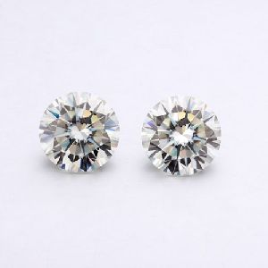 1.00 Ct Round Cut Off White Vvs Loose Real Moissanite Vvs, For Ring