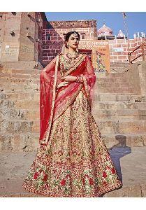 Beige Colored Royal Art Silk Lehenga With Gota,zari And Patch Work Semi Stitched Lehenga Choli