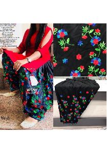 Black Ryon Cotton Patiala Salwar Free Size
