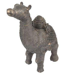 Brass Dhokra Camel Figure Box Statue