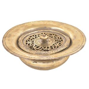 Brass Hand Wash Pot With A Designer Lid