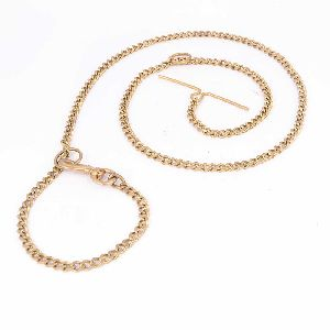 Brass T-bar Dog Chain
